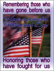 On Memorial Day