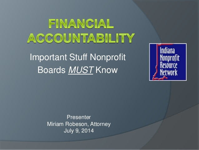 The Board and Financial Accountability