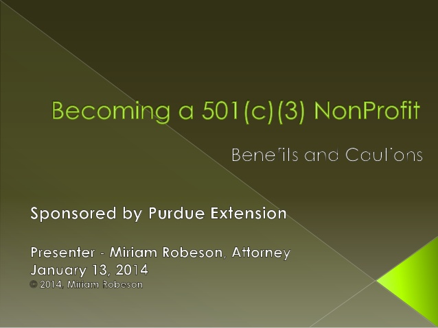 Becoming a 501(c)(3) Nonprofit: Benefits and Cautions