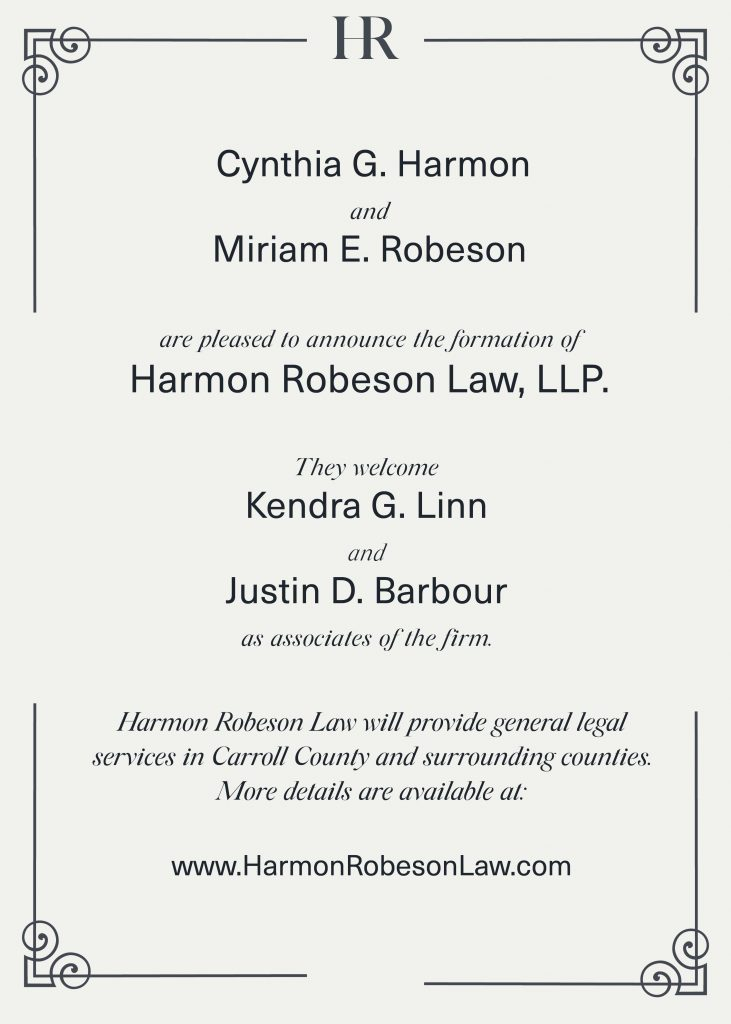 Introducing.... Harmon Robeson Law, LLP